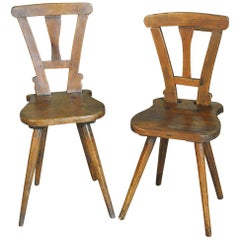 Pair of Diminutive 19th Century French Side Chairs