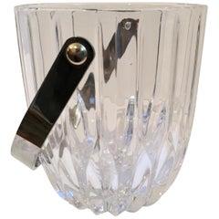 Crystal Ice Bucket with Nickel Handle