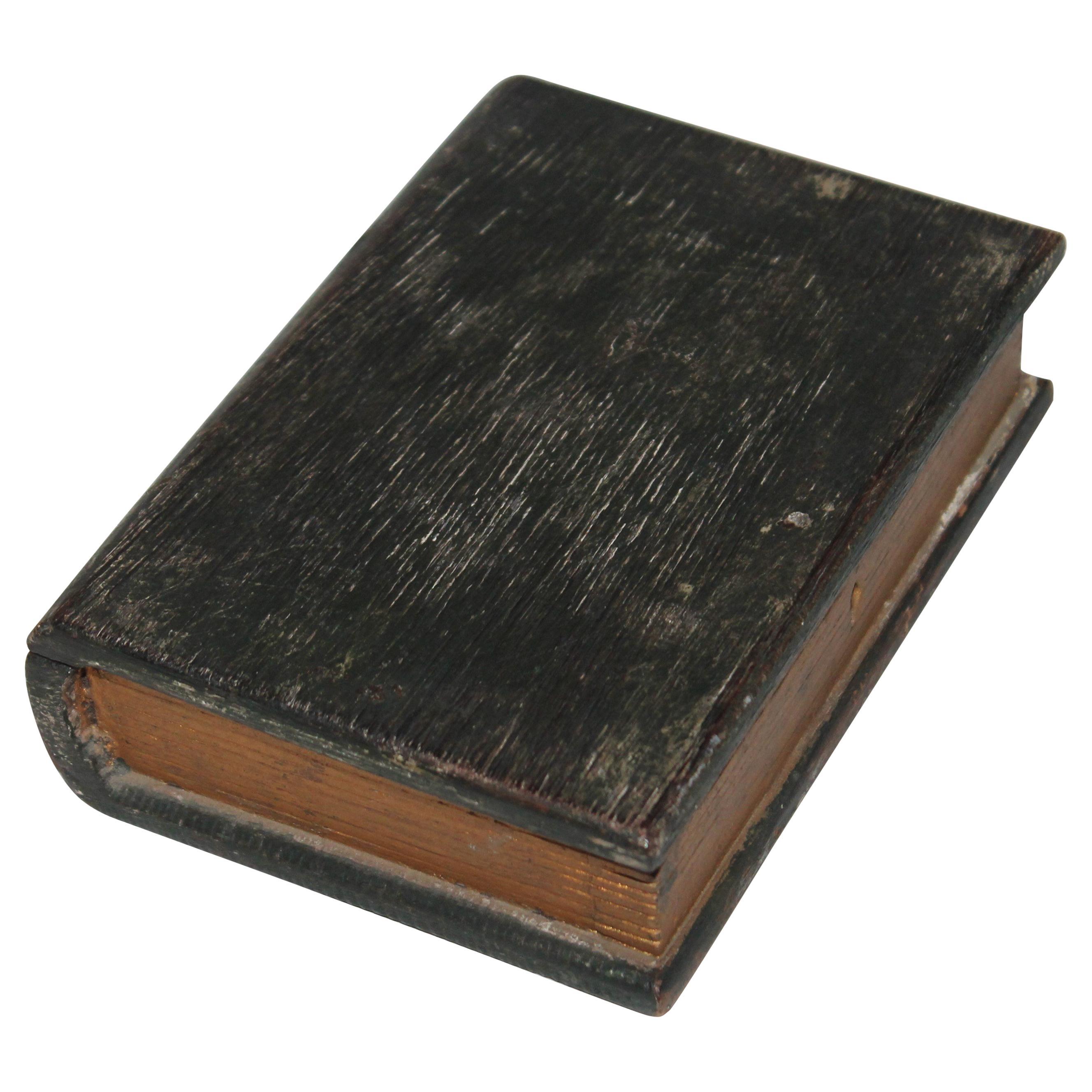 19th Century Rare Miniature Bible Box in Original Paint