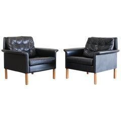 Kill International Pair of Leather Armchair Design by Rudolf Glatzel, 1960s