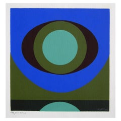 Herbert Bayer Abstract Original Hand Signed Serigraph, 1962