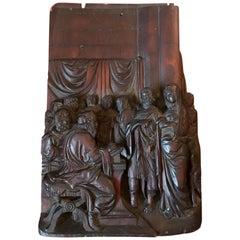 Frühe Barock flämische aus Holz geschnitzte religiöse Figurengruppe, 17. Jahrhundert