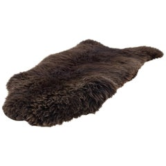Organic Modern Natural Brown Sheepskin Rug or Hide, Dutch Cattle, 2018