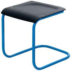 Mart Stam Bauhaus Stool in Black and Blue
