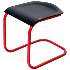 Mart Stam Bauhaus Stool in Black and Red