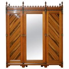 Gothic Revival 3-Door Wardrobe