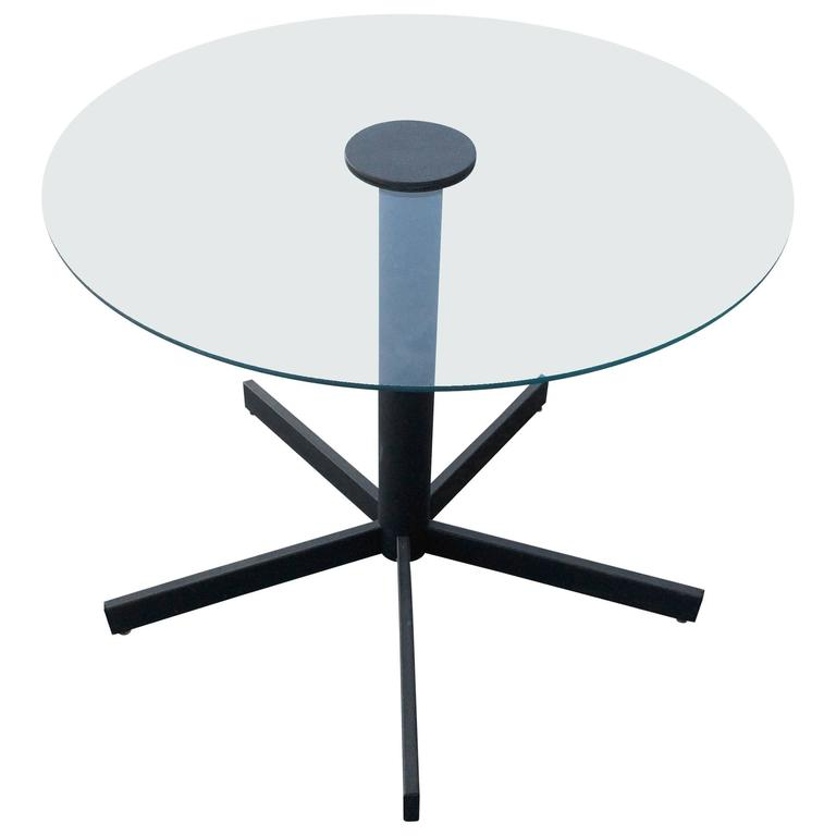 Five-Point Base Table with Glass Top