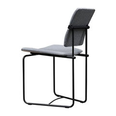 GHYCZY Chair Jodie S02, Charcoal, Grey Fabric, Adjustable Back
