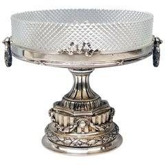 Silver Vienna Centrepiece Glass Liner Wuerbel & Czokally Mayer & Sons 1880-1890