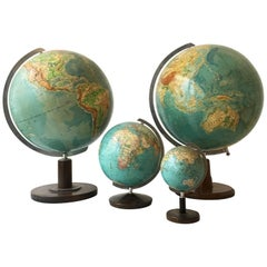 Vintage Globes Collection, Set of Four, Germany, 1930s
