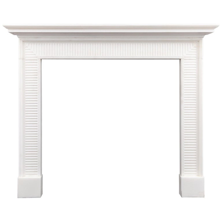 Georgian Style Marble Fireplace For Sale