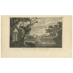 Antique Print of New Caledonia Island by Cook, 1803