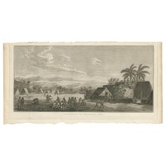 Antique Print of Atooi Island by Cook, 1803