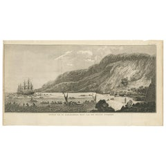 Antique Print of Karakakooa Bay by Cook, 1803