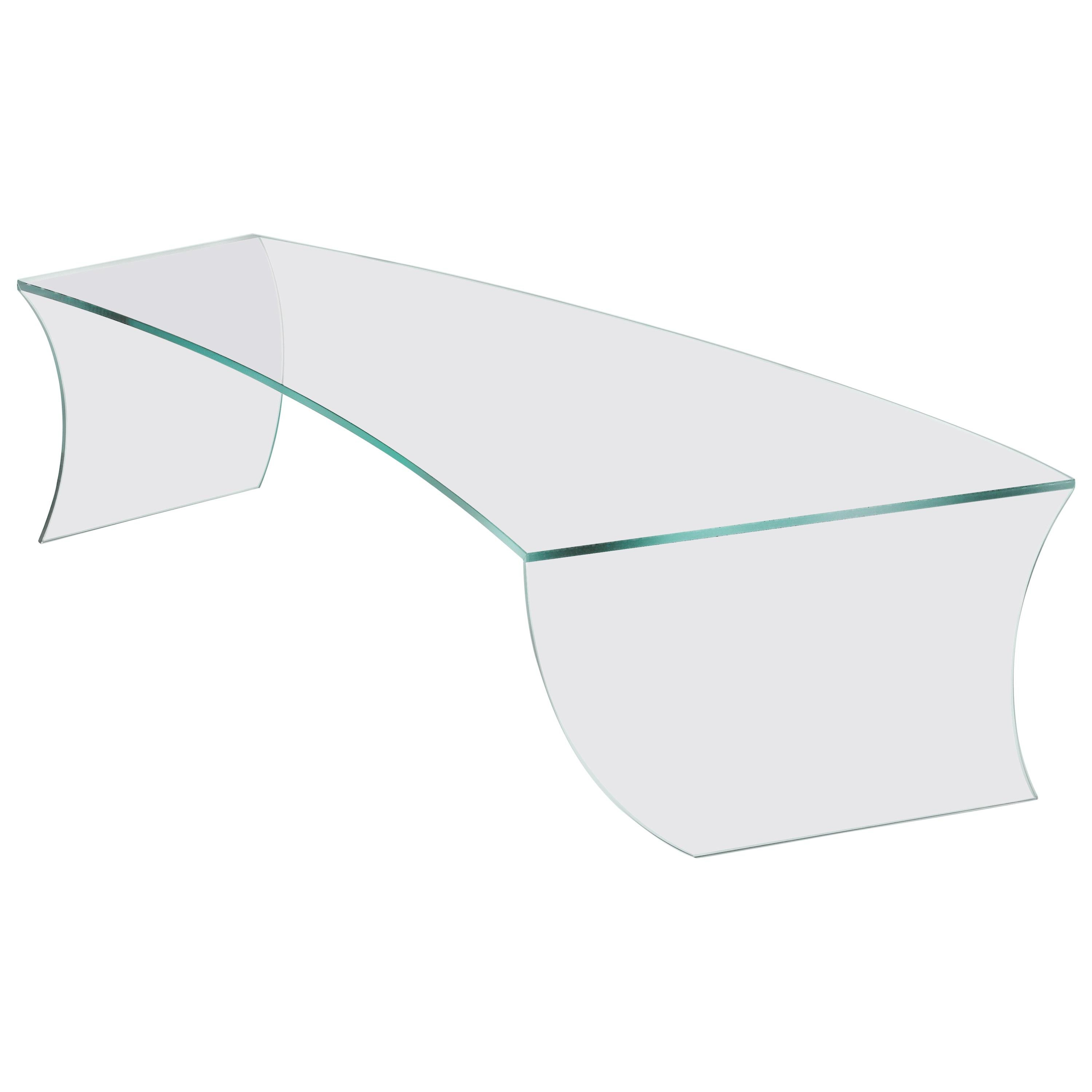 Contemporary Design Coffee Table in Glass Italian Limited Edition