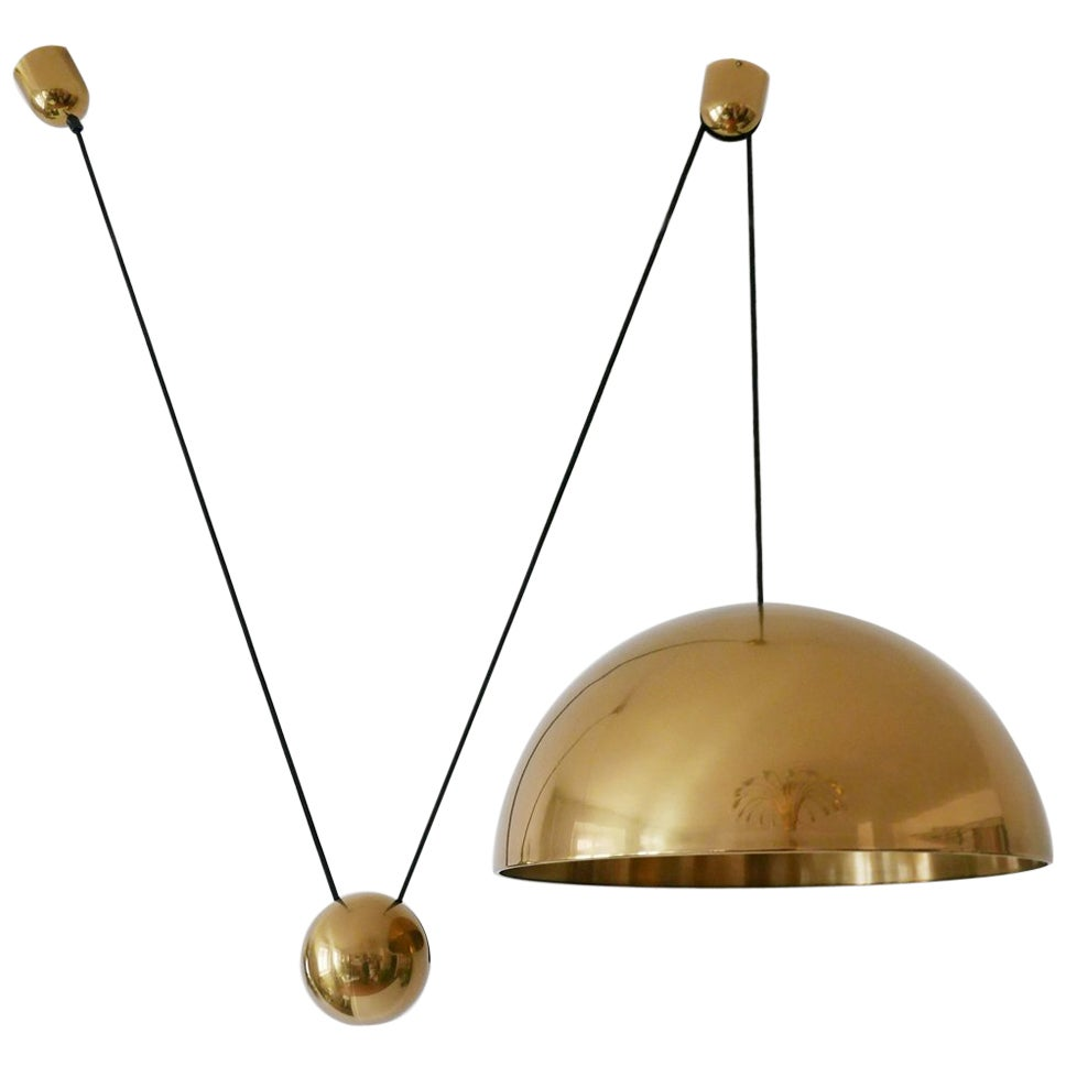 Exceptional Solan Counter Balance Pendant Lamp by Florian Schulz, 1980s, Germany