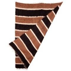 East Anatolian Angora Siirt Blanket, Rug, Mid-20th Century