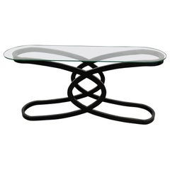 Art Deco Style Glass Top Console Table