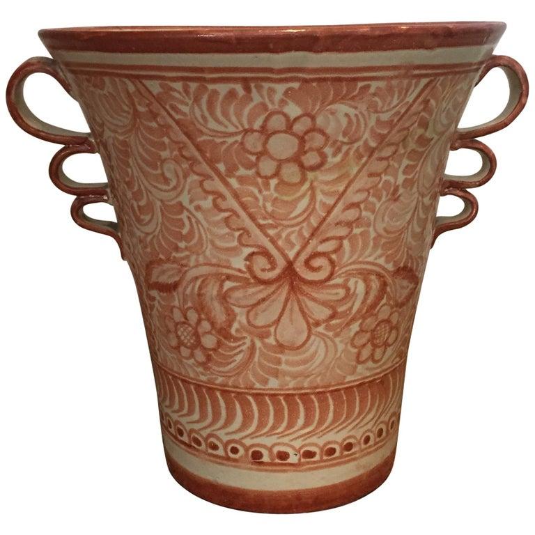 Spanish Ceramic Talavera Mexican Pottery Pot For