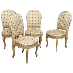 Set of 4 Louis XV Style Dining Side Chairs