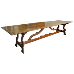 Exceptional and Grand Scale 18th Century Italian Dining Table