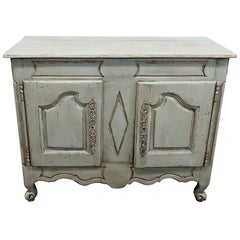 19th Century Antique Paint Decorated French Country Buffet Sideboard Server