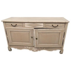 Antique Distressed Painted Swedish Gustavian Buffet Sideboard Server C1830s