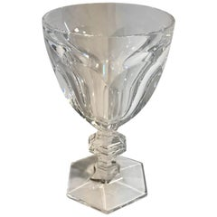 Baccarat Clear Crystal Harcourt Goblet Glass, France 21st Century