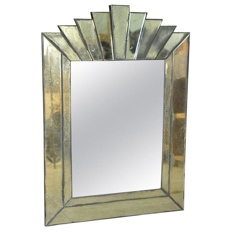 French Art Deco Style Mirror For Sale