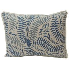 Vintage Batik Blue and White Bolster Decorative Pillow