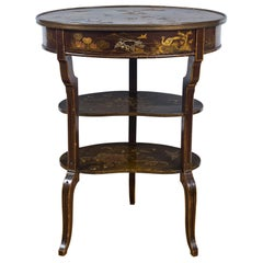 Louis XV Style Japanned Chiffonier Table