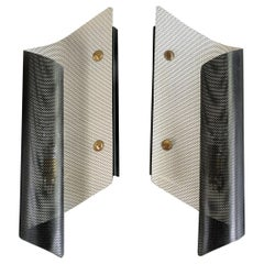 Maison Lunel, Pair of Perforated Metal Sconces, 1950s, France