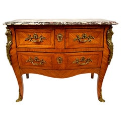 French Inlaid Louis XV Commode or Chest of Drawers