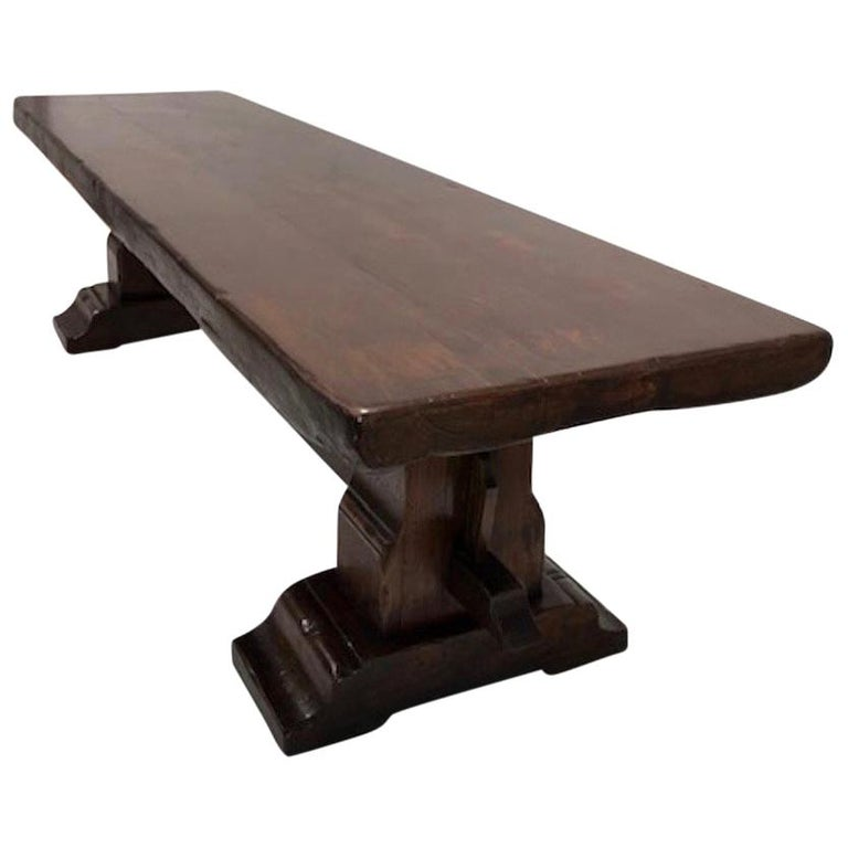 Massive Oak Refectory Table, Italian, 18th Century For Sale