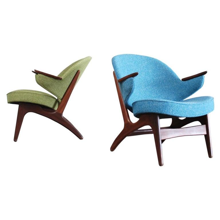 Arne Hovmand Olsen Pair of Easy Lounge Chair, 1960s For Sale