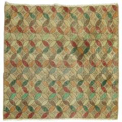 Square Turkish Deco Rug