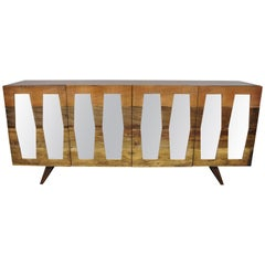 Bina Collection Morgan Console Credenza Cabinet Danish Modern Style Sideboard