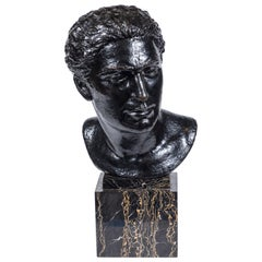 Midcentury Bronze Bust of Man