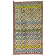 Turkish Art Deco Inspired Rug