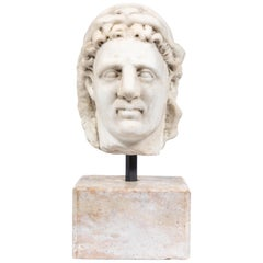 Chic, Ancient-Style, Roman Marble Bust