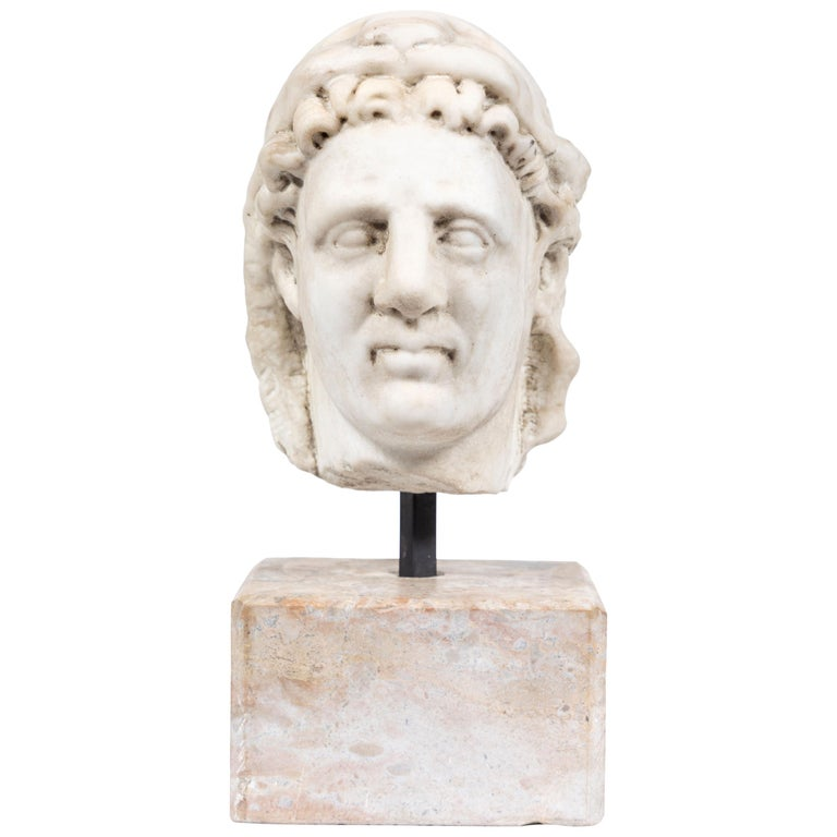 Chic, Ancient-Style, Roman Marble Bust For Sale