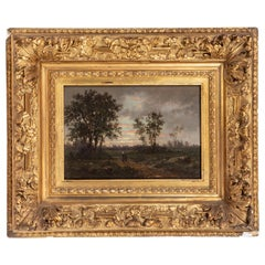 Period, Signed, Barbizon Oil Painting