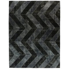 Black and Grey Over-Dyed Rug