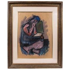 Original, Hans Burkhardt, 1962 Pastel Artwork