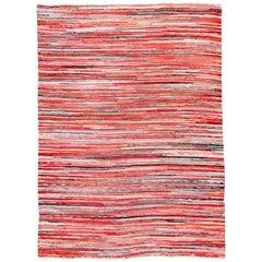 American Vintage Striped Rag Rug