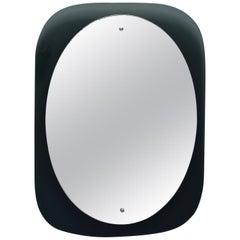Cristal Arte Oval Mirror with Black Glass Frame