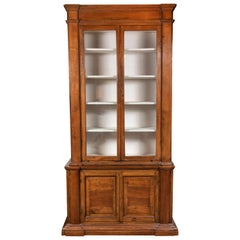 19th Century Fruitwood Vitrine from Modena, Italy