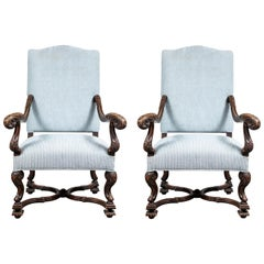 Pair of 19th Century, Italian Armchairs