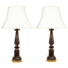 Contemporary, Smokey Quartz Table Lamps