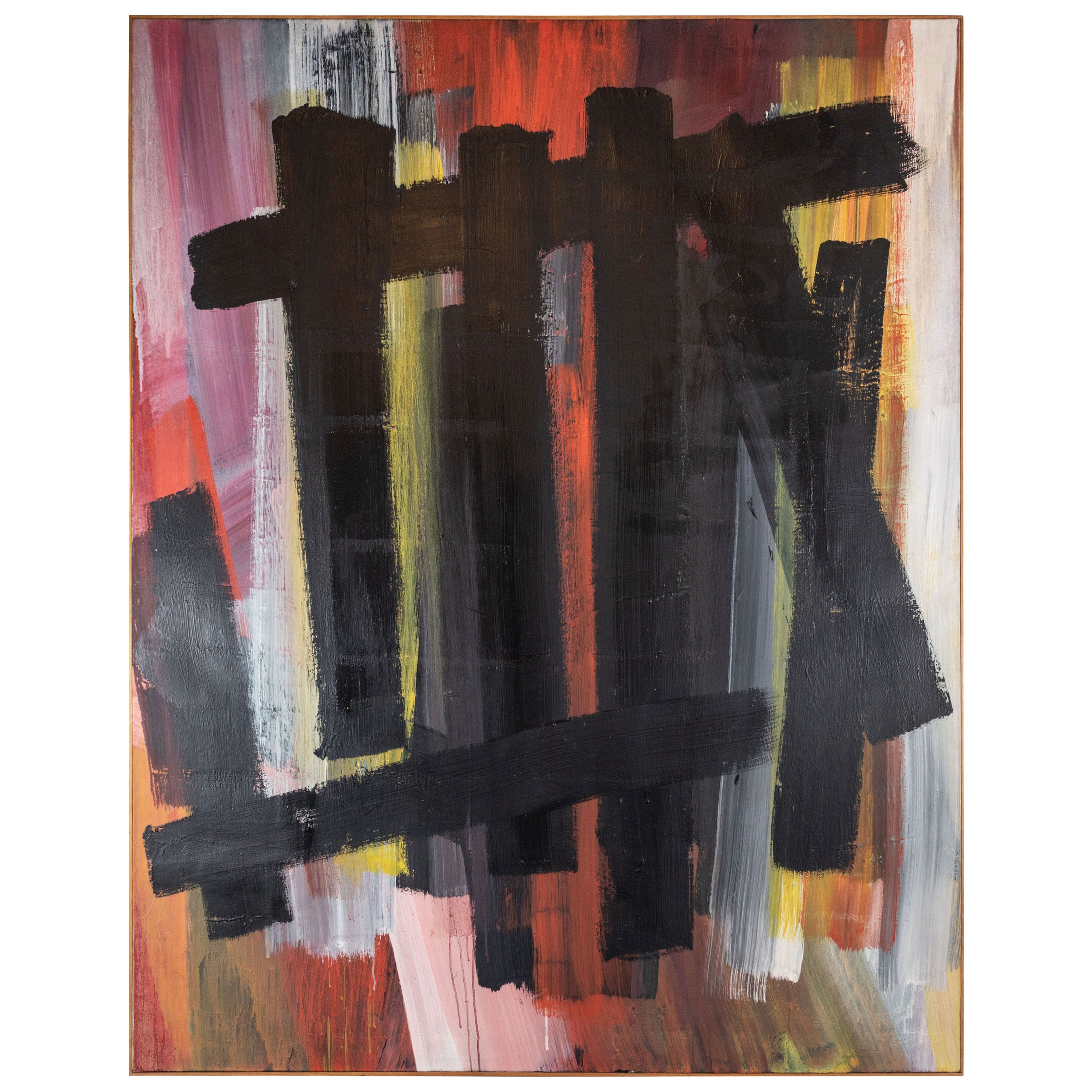 Original, Abstract, 1963 Oil Painting